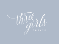 Three Girls Create Logo