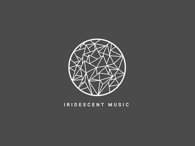 Iridescent Music logo branding abstract visual identity label music graphic design logo