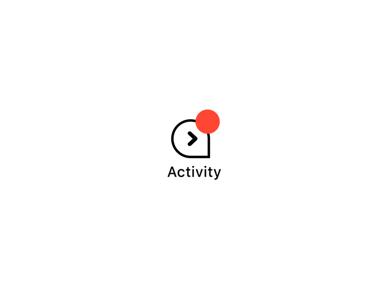 Activity logo ios conversational ui conversational message activity banking app design ui. digital product design icon logo