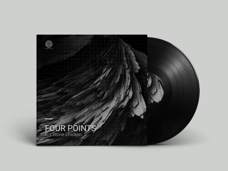 Four Points artwork brand design branding abstract graphicdesign visual 3d ep music