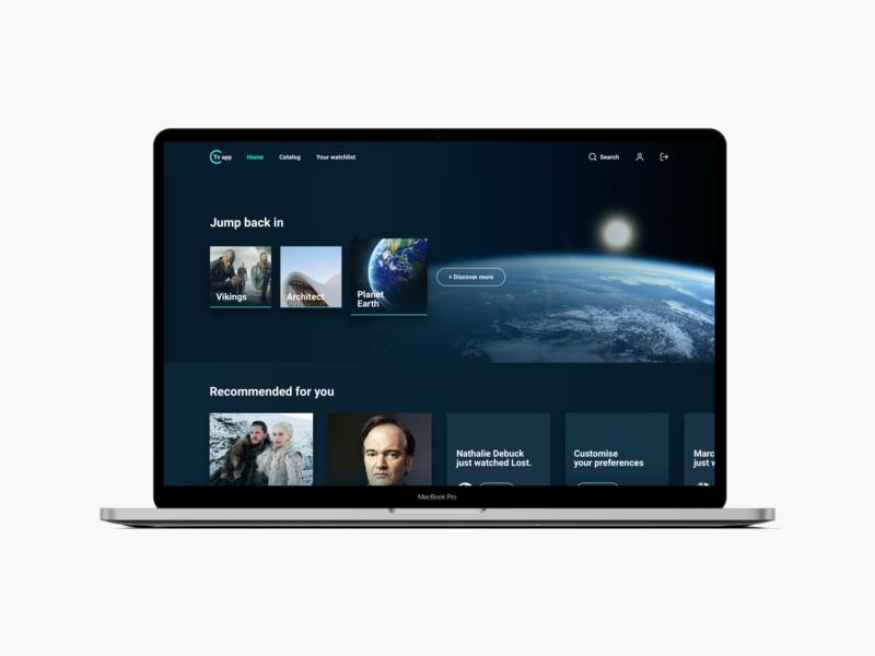 Streaming app concept framerx interaction prototype product designs branding streaming digital design visual tv product design