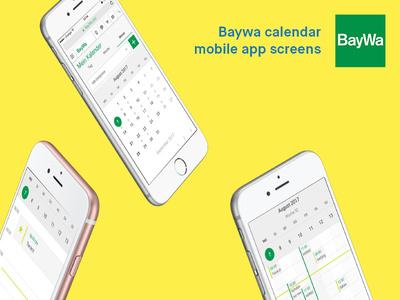 Baywa Calendar app ui ux ios iphone mobile app calendar baywa