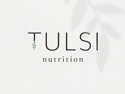 Logo Design for Tulsi Nutrition food therapist wellness logo health logo nutritional nutritionist health coach nutrition minimal feminine branding logo design