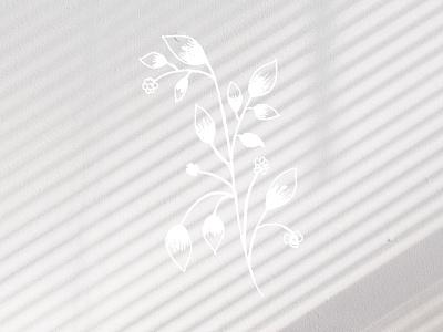Leaves Illustration hand drawn feminine minimal whimsical leaves illustration floral