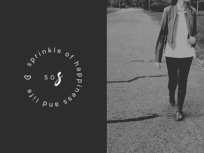 Logo Submark for Sprinkle of Surprise blog branding logo design logo mark minimal blog lifestyle design branding