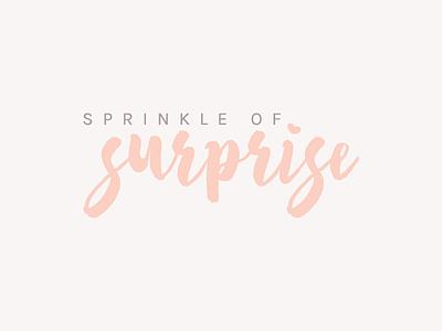 Logo Design for Sprinkle of Surprise logo design blog branding minimal lifestyle design branding blog