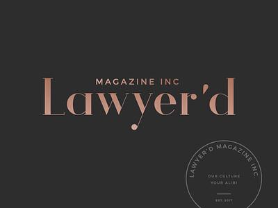Law Magazine Branding logo design girl boss branding design