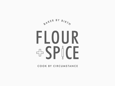 Flour + Spice | Food Blog Logo Design food blog food blog branding logo design branding logo
