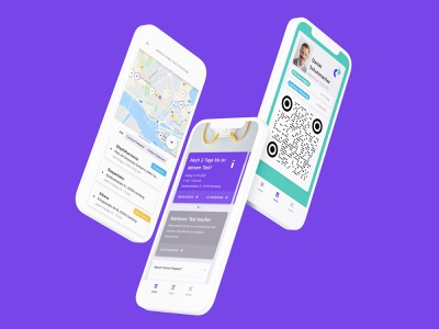 Corona Freepass interface design test medical mobile app corona ux ui