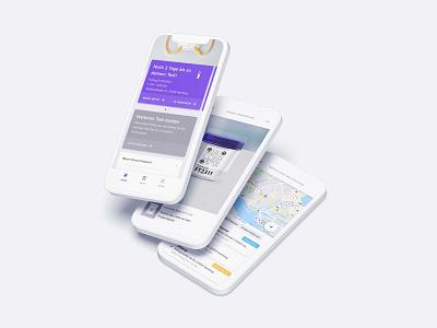 Corona Freepass mobile app covid corona test testing ux interface design ui