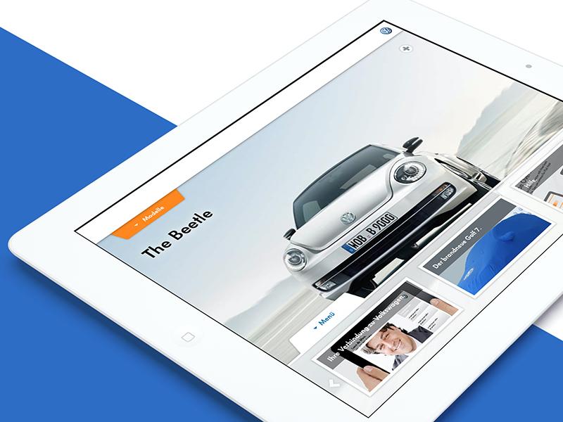 Volkswagen Sales Companion ui app vw