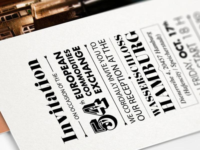 Mackprang invitation print typography letterpress
