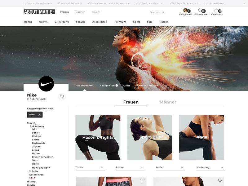 ABOUT YOU -  Brandpage Concept fashion brand shop ui desktop ecommerce