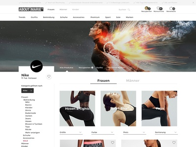 ABOUT YOU -  Brandpage Concept