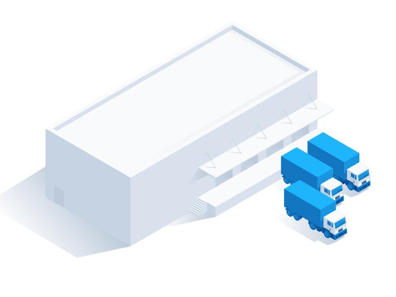 Isometric Warehouse illustration isometric
