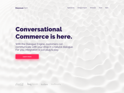 Dialogue Technologies - Landing Page