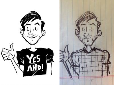 Scribble Guy improv 60s mid mod illustration sketch doodle