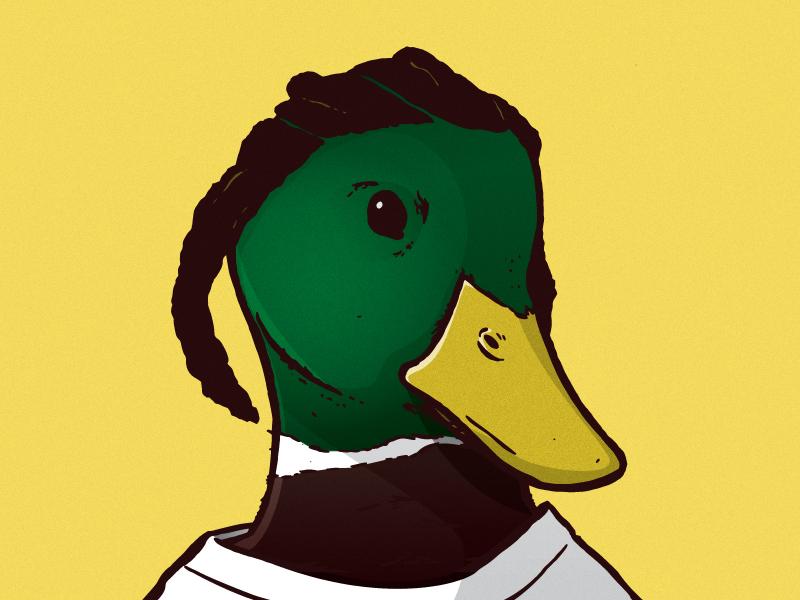 Kendrick Lamallard mallard color design ink illustrator duck birds illustration hip-hop rap
