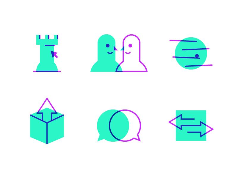 PRPL Icons - Batch Two icons iconography design minimalism shapes geometric identity