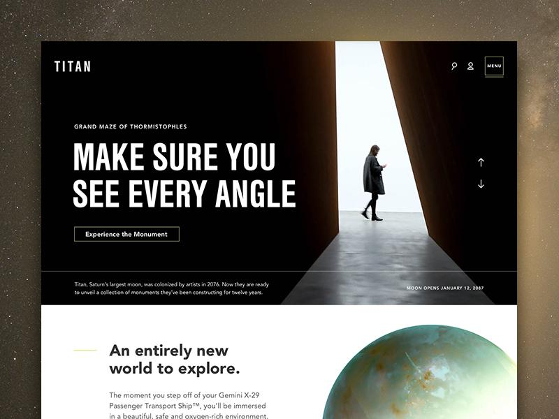 Titan saturn titan science fiction science space web design web home ux ui
