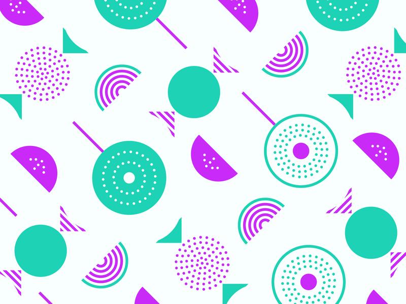 Sweet Pattern Dude illustration geometric mid mod mid century modern shapes pattern design pattern colors candy