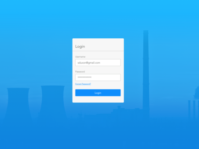 Energy Sector Login app product website ui power plant energy login page login