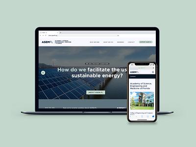 Launching - ASEM-FL Website weather sustainability solar energy education stem florida academy website web design medicine engineering science