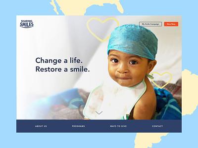 Throwback - Sharing Smiles ui illustration animation navigation website charity medical