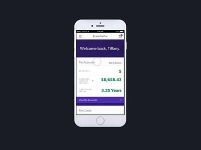 Loan Repayment & Financial Wellness Application ui  ux design ui web mobile app design mobile app mobile finance app fintech finance