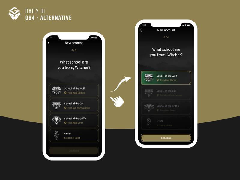 [Alternative] Select User Type | #dailyui 064