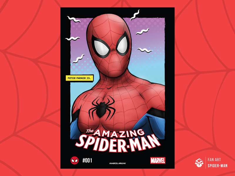 Spider-Man | Fan art poster peter parker digital art marvel spider-man spiderman poster photoshop fanart art illustrator
