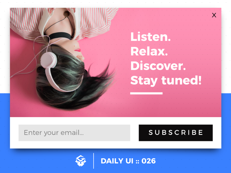 Subscribe | #dailyui #026