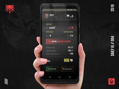 Witcher Reward Calculator | #dailyui 004