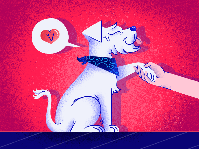 Wicho 🐶🦴 design photoshop illustration artist dribbble designinspiration illustrator doggy heart schnauzer texture love wicho drawing dog illustration doglover dog