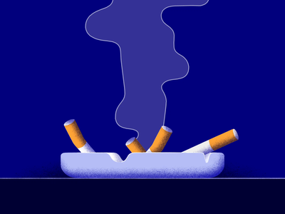 Smoke Cigarette ashtray smoke cigarettes cigarette photoshop aftereffects texture 2d design motion illustration animation dribbble designinspiration