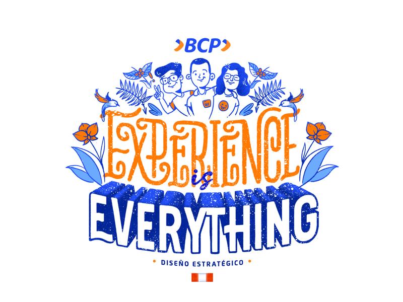 Experience is everything branding design experience peruvian peru lettering ila art friend artist logo typography vector branding illustration design designinspiration dribbble