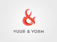 vuur & vorm – logo option 2