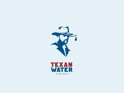 Texan Water water hat cowboy sherrif mark logo