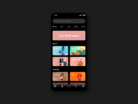 Search Experience clean minimal shopping app light mode dark mode categories search sketch e-commerce design e-commerce shop e-commerce ux ui