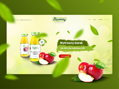Fresh Juice Biummy design adobexd mobile healthy nature web design agency health fresh onepage branding website juice