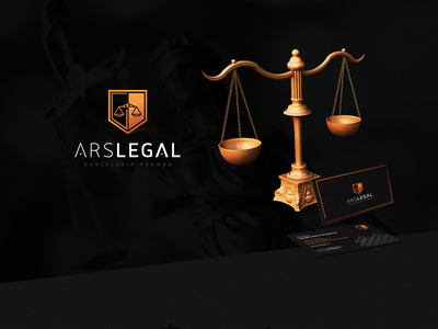 ARSLEGAL identity symbol print luxury logo typography mark gold black legal branding designer design identity branding identity