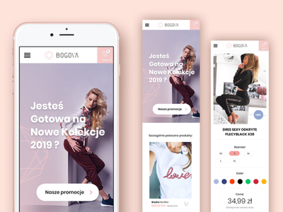 web shop - boutique bogova logo adobexd web design modern design webdesign rose gold rose clean shopping app bogova shopping shop web