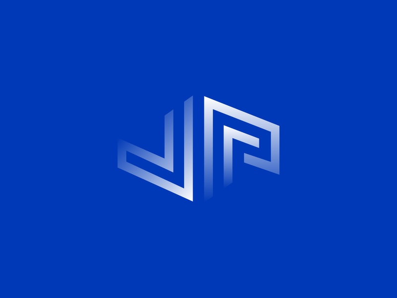 Vie Parallèle gradient diagonal lines abstract geometric identity brand branding icon vector logotype logo blue