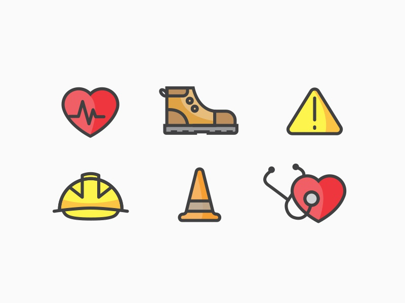 Health and Safety Icons design icons safety health