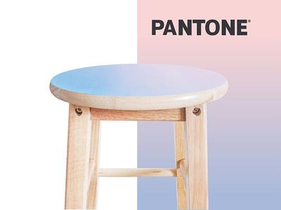 Painted Pantone Stool