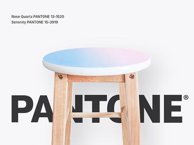 Hand Painted Pantone Stool
