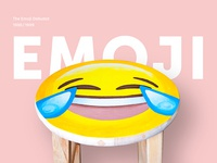Hand Painted Emoji Stool