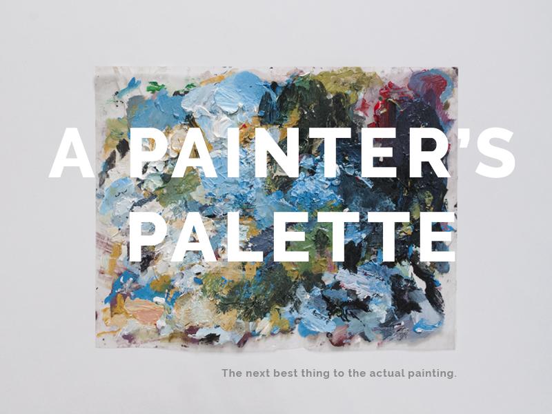 Painter's Palette hand painted art acrylic palette paint