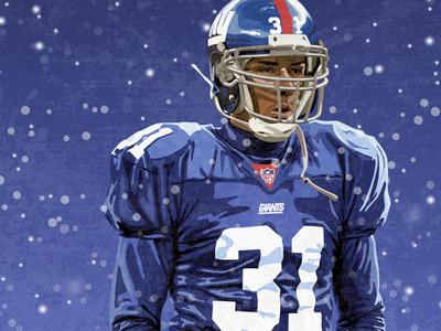 Jason Sehorn Illustration illustrator design illustration usc new york giants giants new york ny football sports national football league nfl