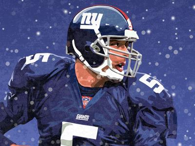 Kerry Collins Illustration drawing illustrator illustration quarterback new york giants new york ny design vector national football league nfl sports